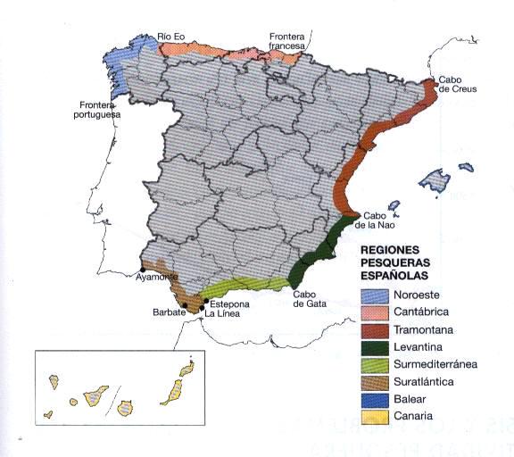 Regiones pesqueras